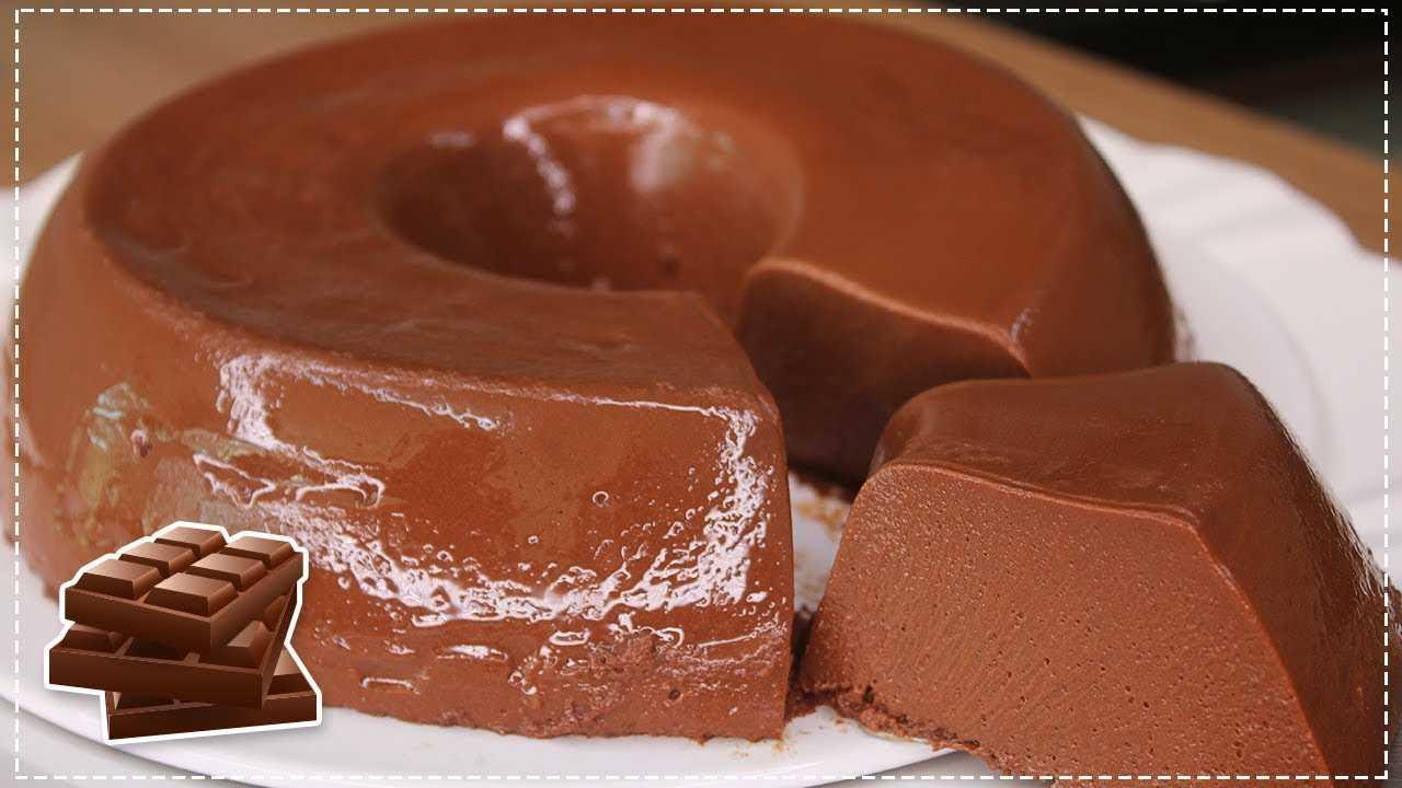 PUDIM DE CHOCOLATE RECHEADO - PUDIM DE CHOCOLATE RECHEADO